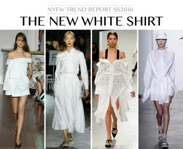 white shirt trend